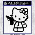 Hello Kitty 007 Decal Sticker Black Vinyl Logo Emblem 120x120
