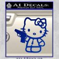 Hello Kitty 007 Decal Sticker Blue Vinyl 120x120