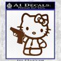 Hello Kitty 007 Decal Sticker Brown Vinyl 120x120
