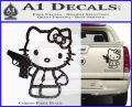 Hello Kitty 007 Decal Sticker Carbon Fiber Black 120x97