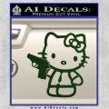 Hello Kitty 007 Decal Sticker Dark Green Vinyl 120x120