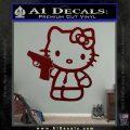 Hello Kitty 007 Decal Sticker Dark Red Vinyl 120x120