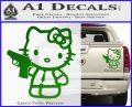 Hello Kitty 007 Decal Sticker Green Vinyl 120x97