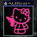 Hello Kitty 007 Decal Sticker Hot Pink Vinyl 120x120