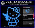 Hello Kitty 007 Decal Sticker Light Blue Vinyl 120x97