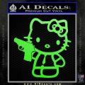 Hello Kitty 007 Decal Sticker Lime Green Vinyl 120x120