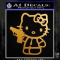 Hello Kitty 007 Decal Sticker Metallic Gold Vinyl 120x120