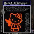 Hello Kitty 007 Decal Sticker Orange Vinyl Emblem 120x120