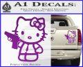 Hello Kitty 007 Decal Sticker Purple Vinyl 120x97