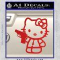 Hello Kitty 007 Decal Sticker Red Vinyl 120x120