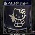 Hello Kitty 007 Decal Sticker Silver Vinyl 120x120