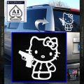 Hello Kitty 007 Decal Sticker White Vinyl Emblem 120x120