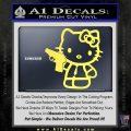 Hello Kitty 007 Decal Sticker Yellow Vinyl 120x120