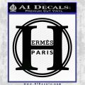 Hermes Paris Decal Sticker CR1 Black Vinyl Logo Emblem 120x120