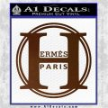 Hermes Paris Decal Sticker CR1 Brown Vinyl 120x120
