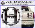 Hermes Paris Decal Sticker CR1 Carbon Fiber Black 120x97