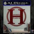 Hermes Paris Decal Sticker CR1 Dark Red Vinyl 120x120