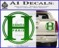Hermes Paris Decal Sticker CR1 Green Vinyl 120x97