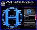 Hermes Paris Decal Sticker CR1 Light Blue Vinyl 120x97