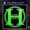Hermes Paris Decal Sticker CR1 Lime Green Vinyl 120x120