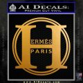 Hermes Paris Decal Sticker CR1 Metallic Gold Vinyl 120x120
