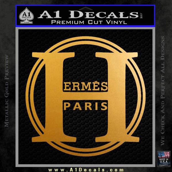 Hermes Paris Decal Sticker CR1 Metallic Gold Vinyl