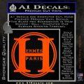 Hermes Paris Decal Sticker CR1 Orange Vinyl Emblem 120x120