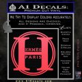 Hermes Paris Decal Sticker CR1 Pink Vinyl Emblem 120x120
