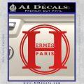 Hermes Paris Decal Sticker CR1 Red Vinyl 120x120