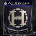 Hermes Paris Decal Sticker CR1 Silver Vinyl 120x120