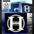 Hermes Paris Decal Sticker CR1 White Vinyl Emblem 120x120