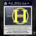Hermes Paris Decal Sticker CR1 Yellow Vinyl 120x120