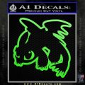 How To Train Your Dragon Decal Sticker Toothless D2 Lime Green Vinyl 120x120