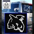 How To Train Your Dragon Decal Sticker Toothless D2 White Vinyl Emblem 120x120