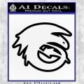 How To Train Your Dragon Hiccup Logo Decal Sticker D2 Black Vinyl Logo Emblem 120x120