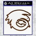 How To Train Your Dragon Hiccup Logo Decal Sticker D2 Brown Vinyl 120x120