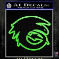 How To Train Your Dragon Hiccup Logo Decal Sticker D2 Lime Green Vinyl 120x120