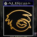 How To Train Your Dragon Hiccup Logo Decal Sticker D2 Metallic Gold Vinyl 120x120