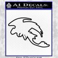 How To Train Your Dragon Toothless D5 Decal Sticker Black Vinyl Logo Emblem 120x120