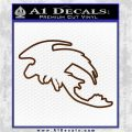 How To Train Your Dragon Toothless D5 Decal Sticker Brown Vinyl 120x120