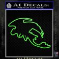 How To Train Your Dragon Toothless D5 Decal Sticker Lime Green Vinyl 120x120