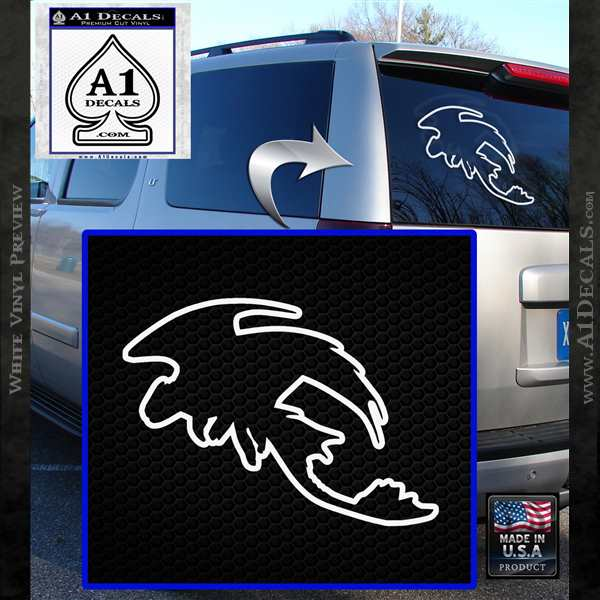 How To Train Your Dragon Toothless D5 Decal Sticker White Vinyl Emblem