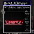 Hoyt Bow Hunting Decal Sticker D3 Pink Vinyl Emblem 120x120