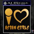 I Heart Asian Girls Decal Sticker Metallic Gold Vinyl 120x120