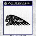 Indian Motorcycle Skull Decal Sticker Black Vinyl Logo Emblem 120x120