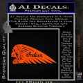 Indian Motorcycle Skull Decal Sticker Orange Vinyl Emblem 120x120
