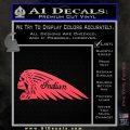 Indian Motorcycle Skull Decal Sticker Pink Vinyl Emblem 120x120