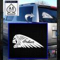 Indian Motorcycle Skull Decal Sticker White Vinyl Emblem 120x120