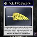 Indian Motorcycle Skull Decal Sticker Yellow Vinyl 120x120