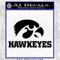 Iowa Hawkeyes DH Decal Sticker Black Vinyl Logo Emblem 120x120